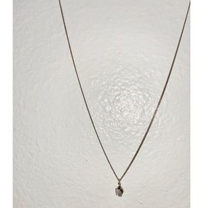GOLD/SILVER DIAMOND NECKLACE